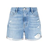 FRAME shorts los angeles con strappi - di colore blu