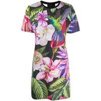 Philipp Plein abito modello t-shirt a fiori - nero