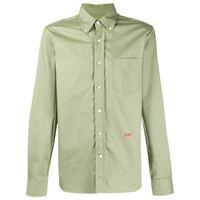 AMI Paris camicia con ricamo - verde
