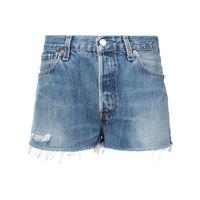 RE/DONE shorts con effetto sbiadito - blu