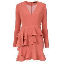 Olympiah andes ruffled dress - rosa