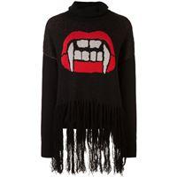 Haculla maglione con frange caught up - nero
