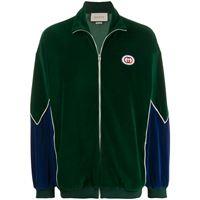 Gucci giacca con zip - verde