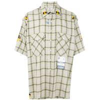 Maison Mihara Yasuhiro camicia a quadri - giallo