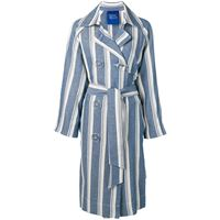 Simon Miller trench a righe - blu