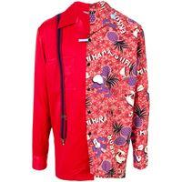 Maison Mihara Yasuhiro camicia con stampa - rosso