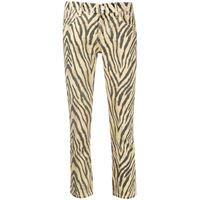 Current/Elliott pantaloni crop con stampa - giallo