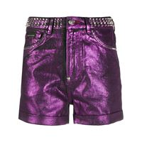 Philipp Plein shorts con borchie - viola