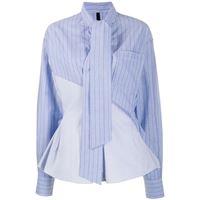 UNRAVEL PROJECT camicia con collo lavallière - blu
