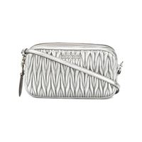 Miu Miu borsa mini a tracolla - effetto metallizzato