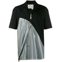A-COLD-WALL* t-shirt con mezza zip - nero