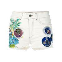 Mr & Mrs Italy shorts denim con applicazioni - bianco