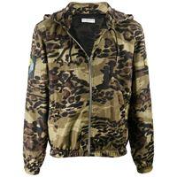 Givenchy - giacca con stampa camouflage - men - poliammide/poliestere - 46, 48, 50, 52 - di colore verde