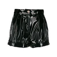 Philipp Plein shorts a vita alta - nero