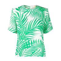 Sara Battaglia blusa con stampa - verde