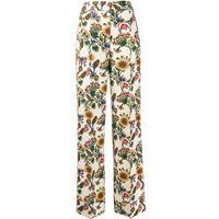 La Doublej pantaloni sartoriali a fiori anna - toni neutri