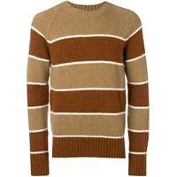 AMI Paris maglione a righe - marrone