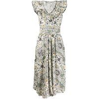Isabel Marant Étoile vestito coraline con balze - toni neutri