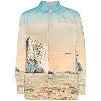 AMBUSH camicia con stampa iceberg - toni neutri