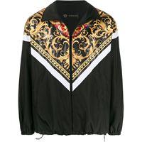 Versace - giacca con stampa barocca - men - poliestere - 50, 46, 52, 48, 44, 54 - di colore nero