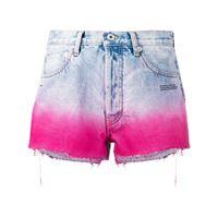 Off-White shorts denim con effetto sfumato - blu