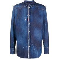 Dsquared2 camicia denim - blu
