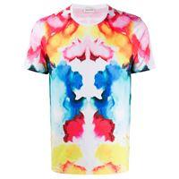 Alexander McQueen t-shirt con fantasia tie dye - rosa