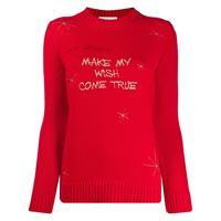 Giada Benincasa maglione con ricamo - rosso