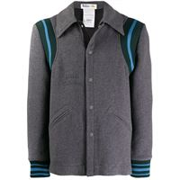 Stella McCartney - giacca con ricamo - men - lana/poliammide/fibre sintetiche - 46, 50, 48 - di colore grigio