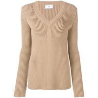 AMI Paris maglione con scollo a v - marrone
