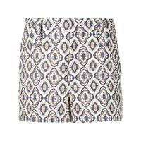 Prada shorts con motivo geometrico jacquard - bianco
