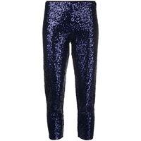 Norma Kamali pantaloni con paillettes - blu