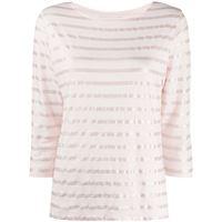 Majestic Filatures t-shirt a righe - rosa