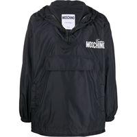 Moschino - giacca leggera con stampa - men - poliammide - 46, 48, 50 - di colore nero