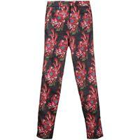 John Richmond pantaloni crop a fiori - nero
