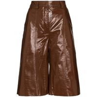 Dodo Bar Or shorts con effetto coccodrillo - marrone