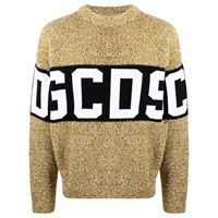 Gcds maglione con design color-block - oro