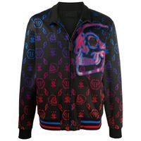 Philipp Plein giacca sportiva con monogramma - nero