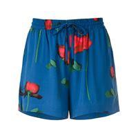 Osklen shorts con stampa - blu