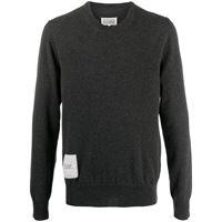 Maison Margiela maglione con applicazione - grigio