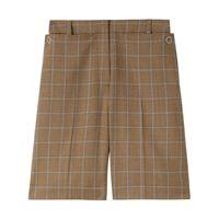 Burberry shorts in pied-de-poule - marrone