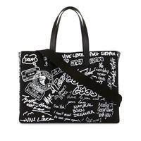 Golden Goose borsa tote con stampa graffiti - di colore nero