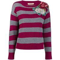 TWINSET maglione a fiori - viola