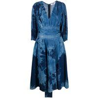 MSGM abito con fantasia tie dye - blu