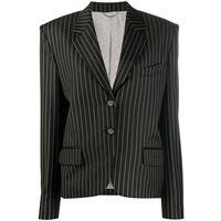 Magda Butrym blazer gessato - di colore nero