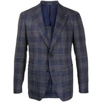 Tagliatore blazer tartan - di colore blu