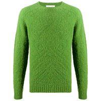 Mackintosh maglione a girocollo hutchins - verde