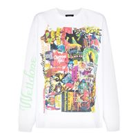 We11done t-shirt con stampa - bianco