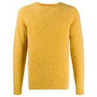 Mackintosh maglione a girocollo hutchins - giallo