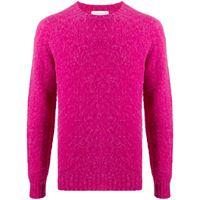 Mackintosh maglione a girocollo hutchins - rosa